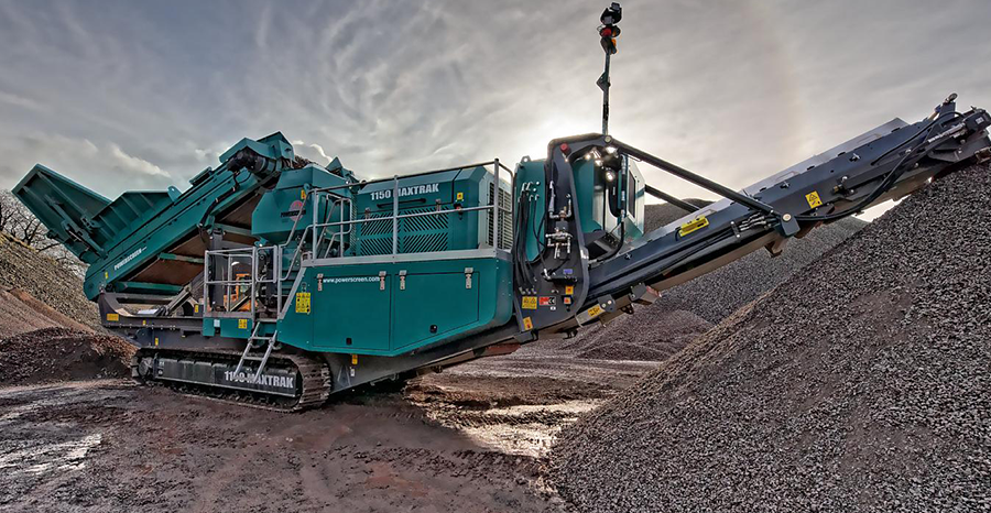 powerscreen 1150 maxtrak hire