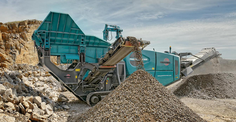 powerscreen premiertrak 600 material crushing