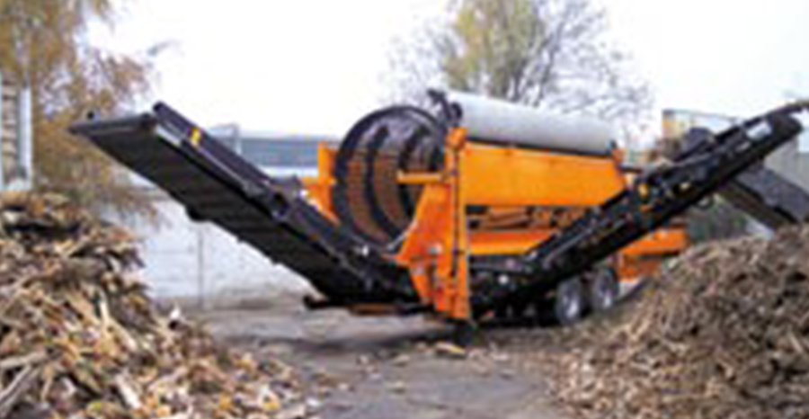 Doppstadt demo waste screening trommel